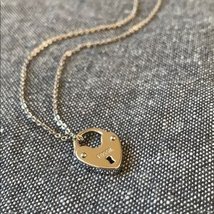 Sterling silver fossil necklace with heart